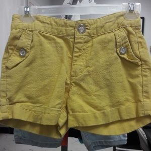 Girls sz 5 Gymboree yellow shorts